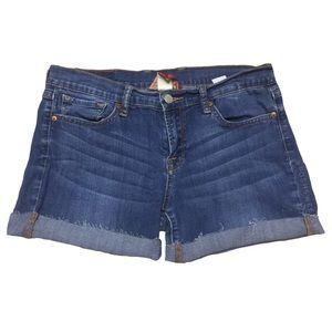 Lucky Brand Embroidered Pocket Cutoff Denim Shorts